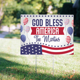 Personalized Patriotic Yard Sign - Patriotism Your Way