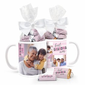 Personalized Best Grandma 11oz Mug with approx. 24 Wrapped Hershey's Miniatures