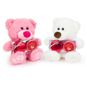 Personalized Valentine's Day Scribble Heart Teddy Bear with Chocolate Covered Oreo 2pk