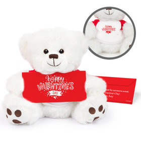 Personalized Valentine's Day Hearts and Hugs Teddy Bear with Belgian Chocolate Bar in Deluxe Gift Box