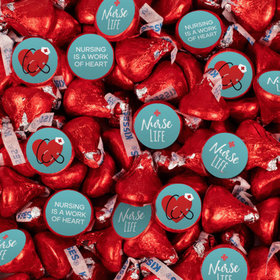 Nurse Appreciation Red Hershey's Kisses with Stickers