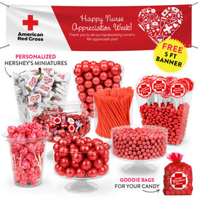 Personalized Nurse Appreciation First Aid Heart Deluxe Candy Buffet