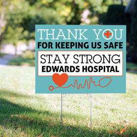 Personalized Nurse Appreciation Thank You Yard Sign