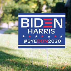 Yard Sign - Biden Harris - Bye Don 2020