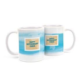 Personalized Retirement Stamps 11oz Mug
