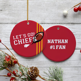 Personalized Let's Go! Chiefs Christmas Ornament