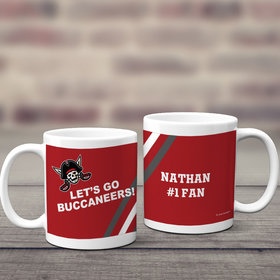 Personalized Let's Go Buccaneers 11oz Mug Empty