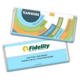 Personalized Teamwork Chocolate Bar & Wrapper