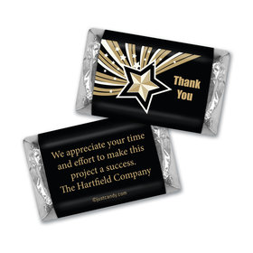 Business Thank You Personalized Hershey's Miniatures Gold Stars