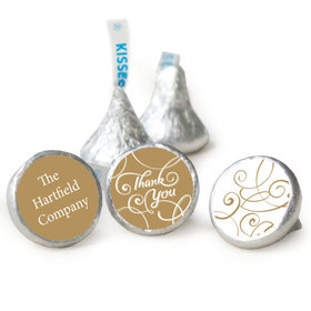 Thank You Personalized Hershey's Kisses Scroll Assembled Kisses (50 Pack)