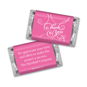 Personalized Thank You Scroll Hershey's Miniatures