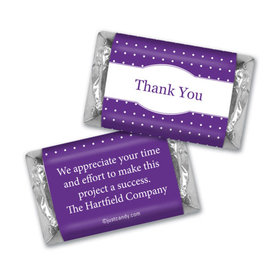 Personalized Thank You Pin Dots Hershey's Miniatures