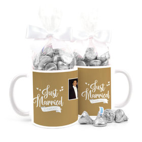 Personalized Anniversary Just Married 11oz Mug with Hershey's Kisses