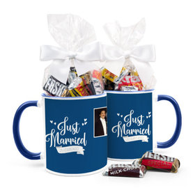 Personalized Anniversary Just Married 11oz Mug with Hershey's Miniatures