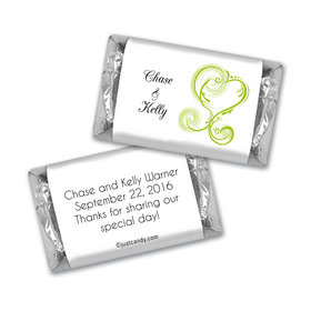 Personalized HERSHEY'S Bar Candy Wedding Favors Regal Elegance Hershey's Miniatures