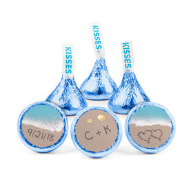 Personalized Wedding Love You Sand Hershey's Kisses (50 pack)