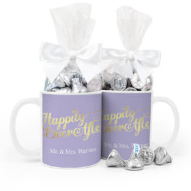 Personalized Wedding Happily Ever After 11oz Mug with Hershey's Kisses