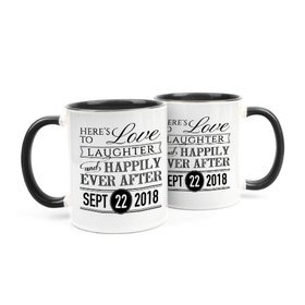 Personalized Wedding Love & Laughter 11oz Mug