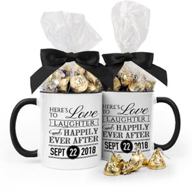 Personalized Wedding Love & Laughter 11oz Mug with Hershey's Kisses