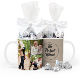 Personalized Wedding The Perfect Blend 11oz Mug with Hershey's Kisses