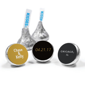 Wedding Save the Date Dots Personalized Hershey's Kisses Candy (50 Pack)