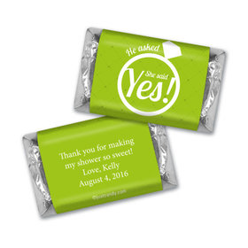 Bridal Shower Favor Personalized Hershey's Miniatures She Said Yes! Ring