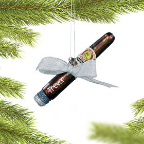 Personalized Cigar Christmas Ornament