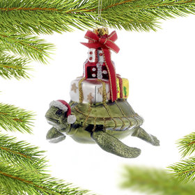 Personalized Sea Turtle Christmas Ornament
