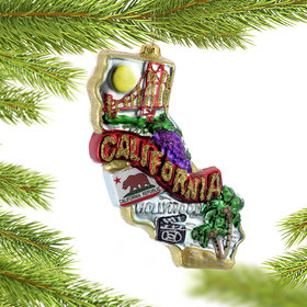 Personalized California Christmas Ornament