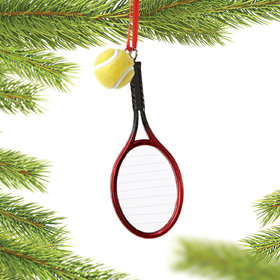 Tennis Racket and Ball Christmas Ornament