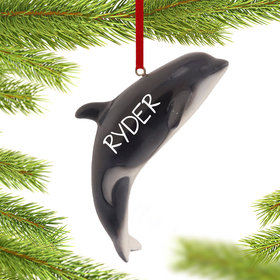 Personalized Whale Christmas Ornament