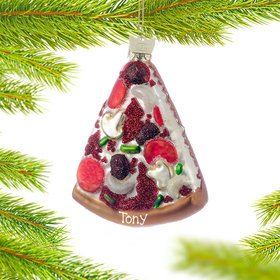Personalized Pizza Christmas Ornament
