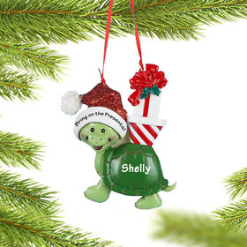 Personalized Turtle Christmas Ornament