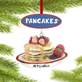 Personalized Pancakes Christmas Ornament