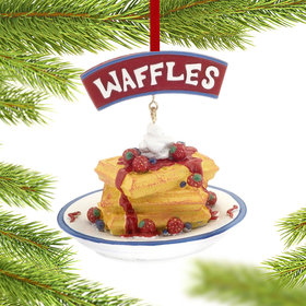 Personalized Waffles Christmas Ornament