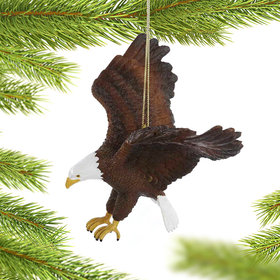 Personalized American Bald Eagle Christmas Ornament