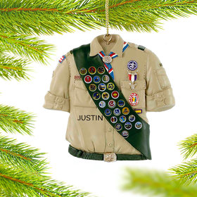 Personalized Eagle Scout Badge Shirt Christmas Ornament