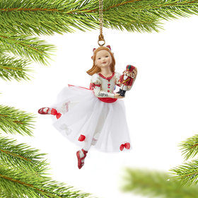 Personalized Clara with her Nutcracker Christmas Ornament