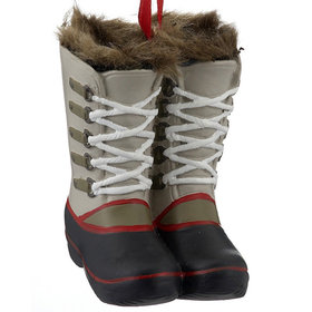 Fur Lined Winnie Boots (Grey) Christmas Ornament