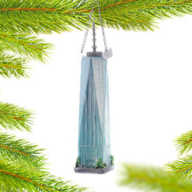 Personalized One World Trade Center Freedom Tower Christmas Ornament