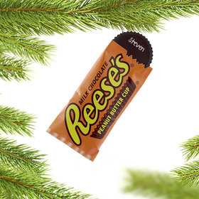 Personalized Reese's Peanut Butter Cup Christmas Ornament