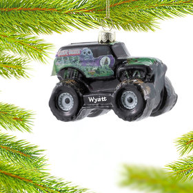 Personalized Monster Jam Grave Digger Monster Truck Christmas Ornament