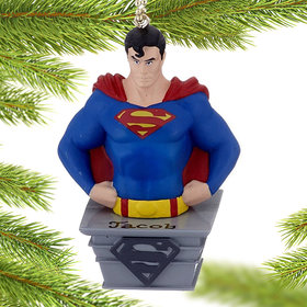 Personalized Superman DC Comics Super Hero Christmas Ornament