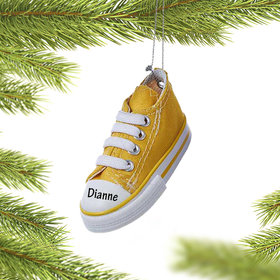 Personalized Converse Canvas Sneaker Christmas Ornament