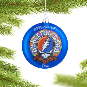 Personalized Grateful Dead Christmas Ornament