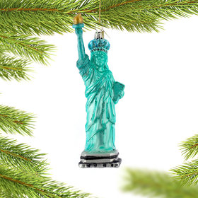 Personalized New York City Statue of Liberty Christmas Ornament