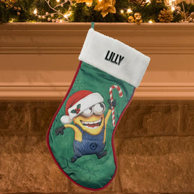 Despicable Me Two Eyes Minion Christmas Stocking