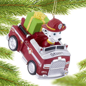 Personalized Paw Patrol Truck Marshall Christmas Ornament