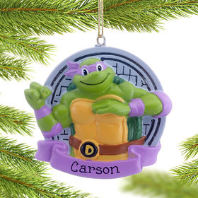 Personalized TMNT Donatello (Purple) Christmas Ornament