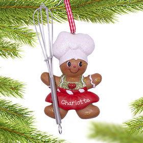 Personalized Sweet Gingerbread Girl Christmas Ornament